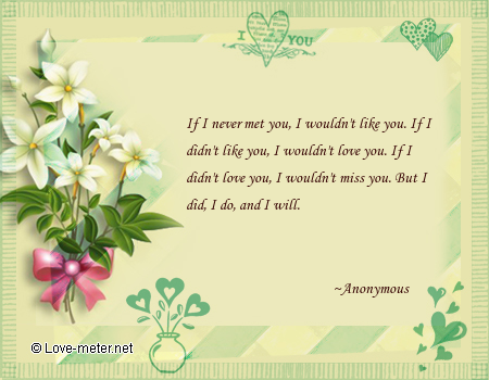 if i never met you i wouldn t like you if i didn t like you i wouldn t ...